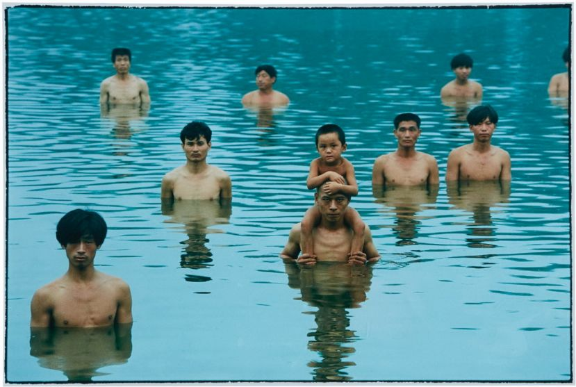 To raise  the water level in a fish pond (close up), Zhang Huan, 1997